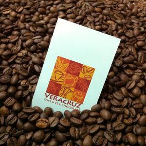 Granos de Café y Tarjeta