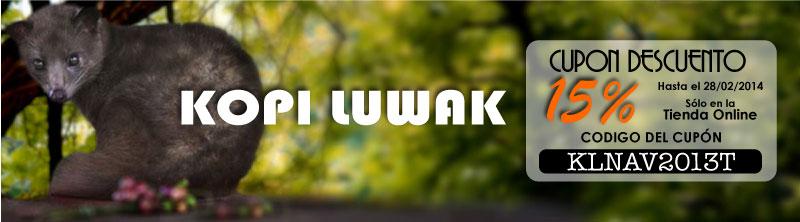 Cupón descuento de Kopi Luwak 15% y portes gratis