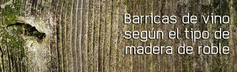 Barricas de vino según el tipo de madera de roble