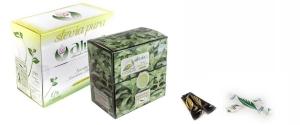 Stevia Pura en monodosis: estuches de Stevia Gold (50 monodosis) y Stevia Green (150 sobres monodosis)