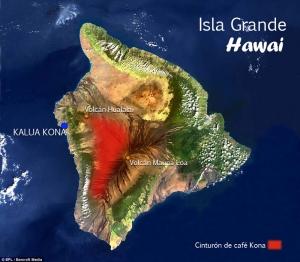 Cinturón del café de Kona en Hawai