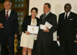 Uno de los premios entregados a Finca Jocutla en la AVPA 2016 de París
